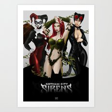 the Gotham Sirens Art Print