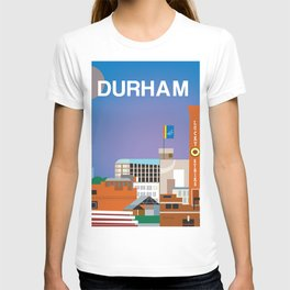 Durham, North Carolina - Skyline Illustration by Loose Petals T-shirt