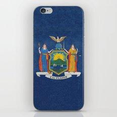 New York State Flag, vintage retro style iPhone & iPod Skin