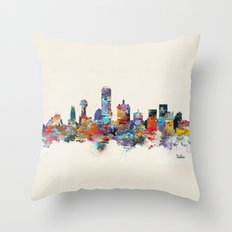 dallas texas skyline Throw Pillow