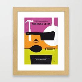 No827 My American Ultra minimal movie poster Framed Art Print