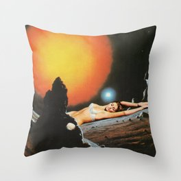 Lazy in Space Throw Pillow