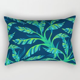 Paradise Leaves - Green Rectangular Pillow