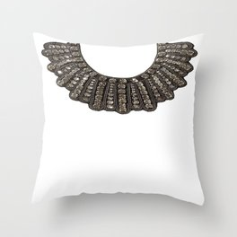Ruth Bader Ginsburg's Dissent Collar RBG Throw Pillow