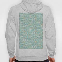 Luxury Aqua and Gold oriental pattern Hoody