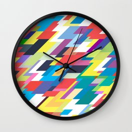 Layers Triangle Geometric Pattern Wall Clock