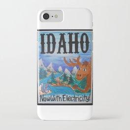 Idaho Travel Postcard iPhone Case