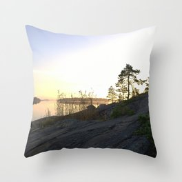 Perfect silence Throw Pillow