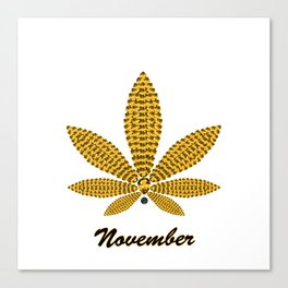 Birthstoned Leaf of Month, November Citrine Canvas Print