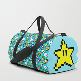 Super Jumpman World | blue | vintage video game pattern Duffle Bag