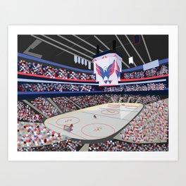 Washington DC Hockey Arena Art Print