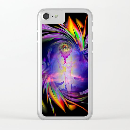 Flowermagic - good luck Clear iPhone Case