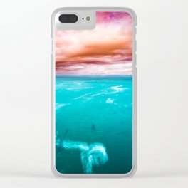 Fire and Water Sea Clear iPhone Case