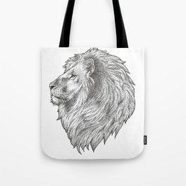 Lion Head - Stippled Tote Bag