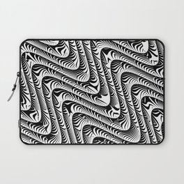 Black and White Serpentine Pattern Laptop Sleeve