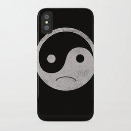 yin yang smiley ;-( iPhone Case