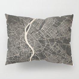 budapest map ink lines Pillow Sham