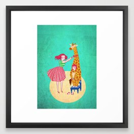 Nothing like being 6 to grow taller! Framed Art Print