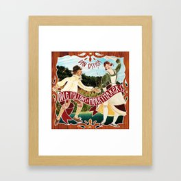 Idle fellows & Merrymakers Framed Art Print