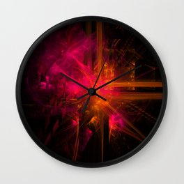 Alien Sunset Wall Clock