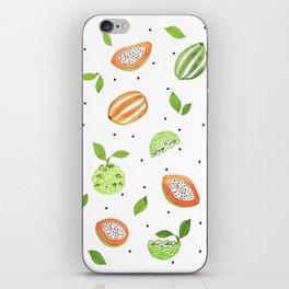 Papaya & Custard Apple iPhone Skin