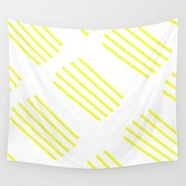 highlighter yellow stripes lasoffittadiste Wall Tapestry