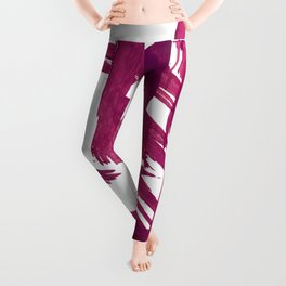 Cranberry brushstroke [1]: a bold, simple, abstract piece in purple Leggings
