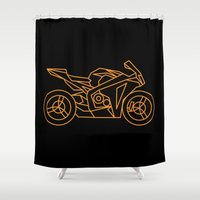 honda Shower Curtains featuring SUPERSPORT by Caffeine Collective