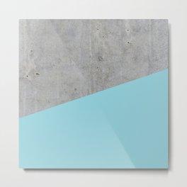 Concrete and island paradise color Metal Print
