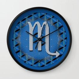 SCORPIO Flower of Life Astrology Design Wall Clock