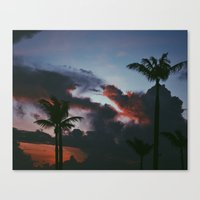 palm Canvas Prints featuring PALM  by DAY OLD BLUES