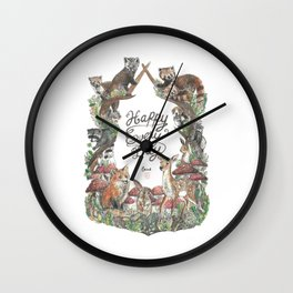 Happy Every Day! Wall Clock