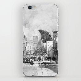 Old Time Godzilla San Francisco Earthquake iPhone Skin