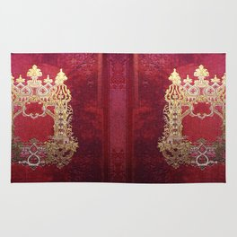 Ink Stained Crimson Book Rug
