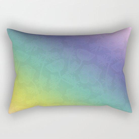 Floral rainbow color pattern . Rectangular Pillow