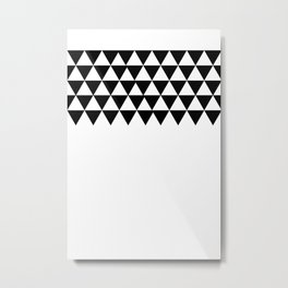 Triangle Pattern Metal Print