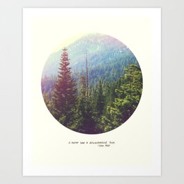 Discontented Tree Art Print