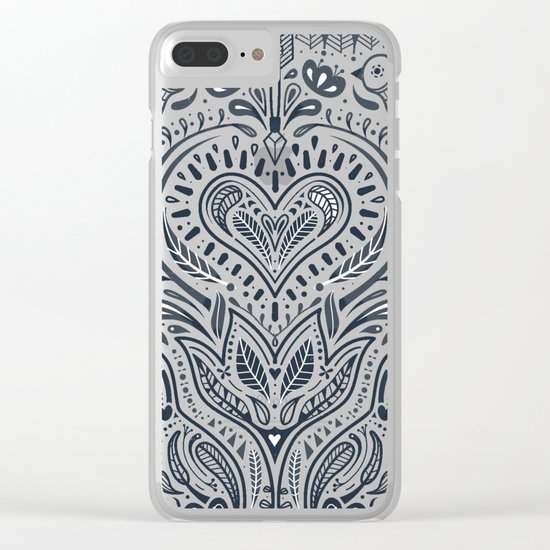 Folklore Pattern 3 Clear iPhone Case