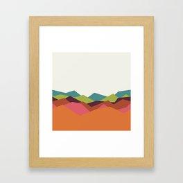 Chevron Mountain Framed Art Print