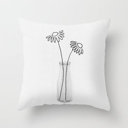 Flower Still Life II Throw Pillow