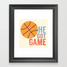 He Got Game Framed Art Print