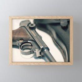 Luger P08 Parabellum handgun. Framed Mini Art Print