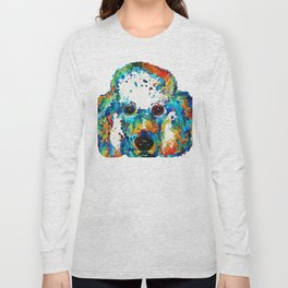 Colorful Poodle Dog Art by Sharon Cummings Long Sleeve T-shirt