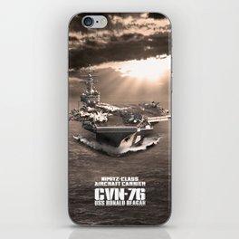 Aircraft carrier Ronald Reagan iPhone Skin