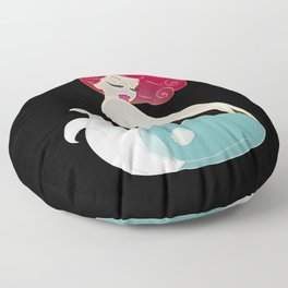 Pin Up Mermaid   Floor Pillow