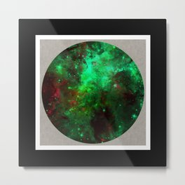 Captured Space - Abstract, geometric, outer space themed art Metal Print