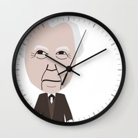 frank Wall Clocks featuring Frank by InLoveWithBuildings
