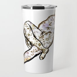 Floral Male Nude Art Print Travel Mug