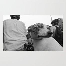 Dog on Wheels Rug