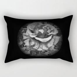 Black Rose - Painting Style - Black and White - Art Gift Rectangular Pillow